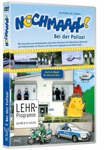 """Kinder Polizei Filme """"Nochmaaal-Bei der Polizei"""" mit echten Polizeiautos, Polizeihund, Polizei Hubschrauber, Wasserschutzpolizei uvm."""