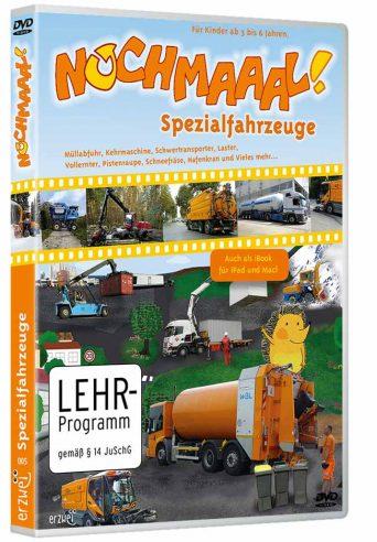 """Verpackung der DVD """"Spezialfahrzeuge"""" aus der Reihe """"Nochmaaal"""""""