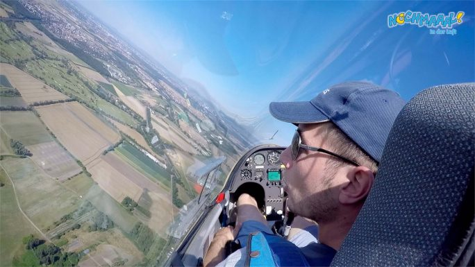 Segelflugzeug im Aufwind